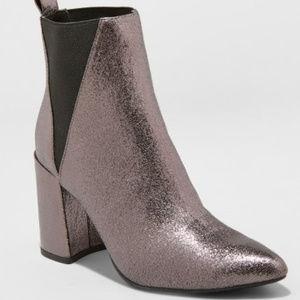 A New Day Women's Metallic Nikita Pointed Boots